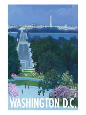 Washington DC, Arlington National Cemetery by Lantern Press