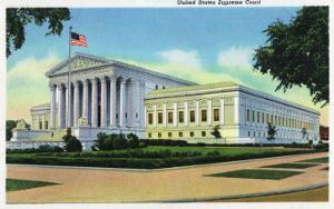 Washington DC, Exterior View of the US Supreme Court Building, no.2 by Lantern Press