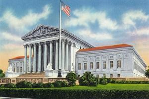 Washington, DC, Exterior View of the US Supreme Court Building by Lantern Press