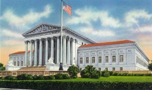 Washington, DC, Exterior View of the US Supreme Court Building by Lantern Press