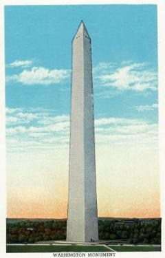 Washington, DC, Exterior View of the Washington Monument by Lantern Press