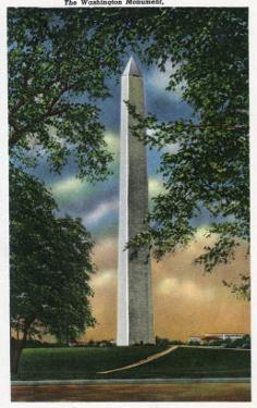 Washington DC, Exterior View of the Washington Monument by Lantern Press