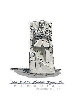 Washington, DC - Martin Luther King, Jr. Memorial by Lantern Press