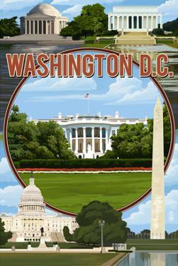 Washington DC - Montage by Lantern Press