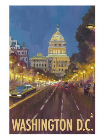 Washington DC, The Capitol Building by Lantern Press