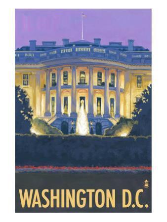 Washington DC, The White House by Lantern Press