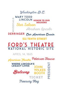 Washington, DC - Typography - Fords Theatre NHS by Lantern Press