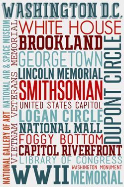 Washington DC - Typography by Lantern Press
