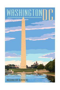 Washington, DC - Washington Monument by Lantern Press