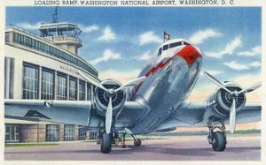 Washington DC - Washington National Airport Ramp by Lantern Press