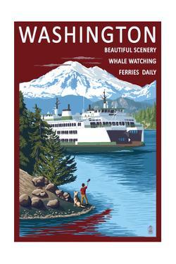 Washington - Ferry Scene by Lantern Press