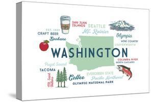 Washington - Typography and Icons by Lantern Press