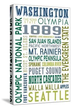 Washington - Typography by Lantern Press