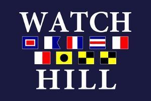 Watch Hill, Rhode Island - Nautical Flags by Lantern Press