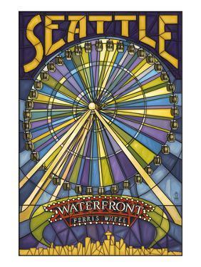 Waterfront Ferris Wheel - Seattle, Washington by Lantern Press