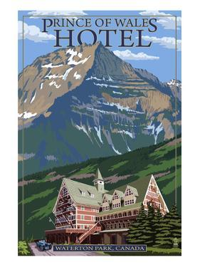 Waterton Lakes National Park, Canada - Prince of Wales Hotel by Lantern Press
