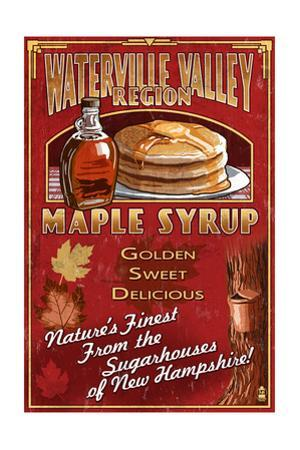 Waterville Valley Region, New Hampshire - Maple Syrup Sign by Lantern Press
