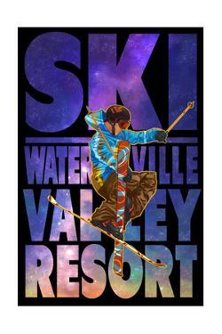 Waterville Valley Resort, NH - Milky Way Skier by Lantern Press