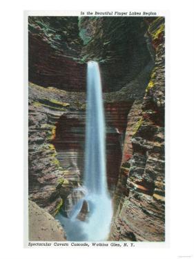 Watkins Glen, New York - View of Spectacular Cavern Cascade by Lantern Press