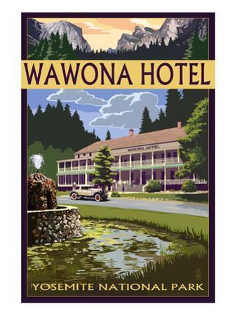 Wawona Hotel - Yosemite National Park - California by Lantern Press