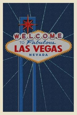 Welcome to Las Vegas Sign by Lantern Press