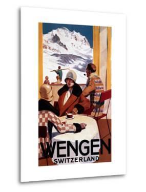 Wengen, Switzerland - The Downhill Club Promotional Poster by Lantern Press