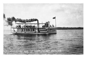 West Okoboji Lake, Iowa - Passenger Boat Queen by Lantern Press