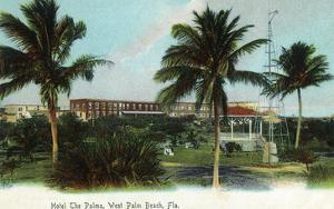 West Palm Beach, Florida - The Palms Hotel Exterior View by Lantern Press