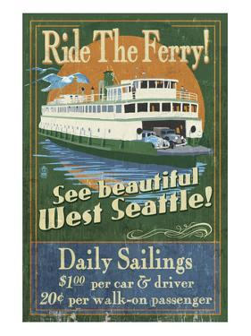 West Seattle Ferry by Lantern Press