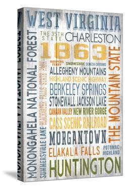 West Virginia - Barnwood Typography by Lantern Press