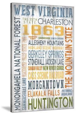 West Virginia - Barnwood Typography by Lantern Press
