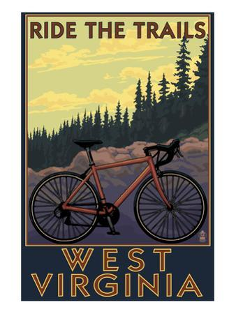 West Virginia - Ride the Trails by Lantern Press