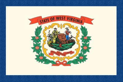 West Virginia State Flag by Lantern Press