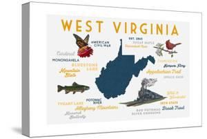 West Virginia - Typography and Icons by Lantern Press