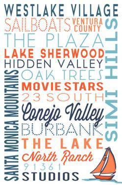 Westlake Village, California - Typography by Lantern Press