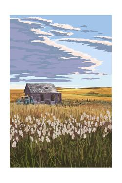 Wheat Field and Shack by Lantern Press