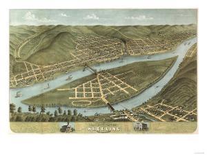 Wheeling, West Virginia - Panoramic Map by Lantern Press