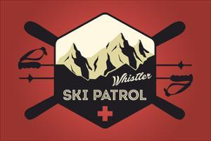Whistler, Canada - Ski Patrol Badge - Vector Style by Lantern Press