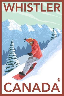 Whistler, Canada - Snowboarder by Lantern Press