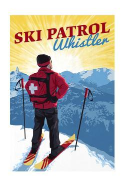 Whistler, Canada - Vintage Ski Patrol by Lantern Press