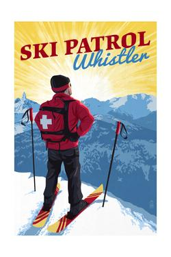 Whistler, Canada - Vintage Ski Patrol by Lantern Press