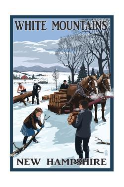 White Mountains, New Hampshire - Firewood Gathering by Lantern Press