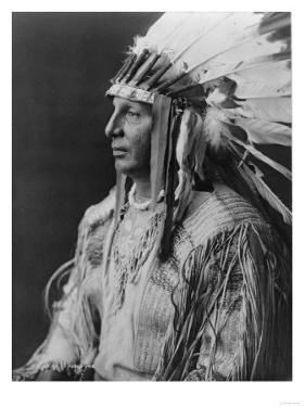 White Shield Arikara Native American Indian Curtis Photograph by Lantern Press