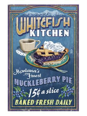 Whitefish, Montana - Huckleberry by Lantern Press