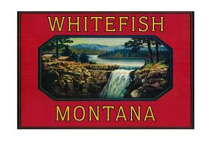 Whitefish Montana - Orange Label by Lantern Press
