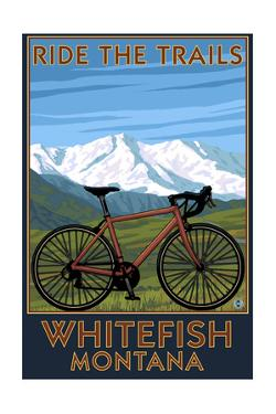Whitefish, Montana - Ride the Trails by Lantern Press