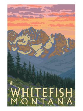 Whitefish, Montana - Spring Flowers by Lantern Press