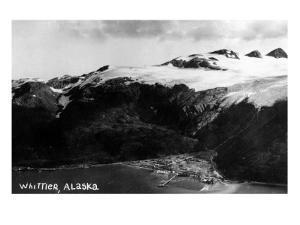 Whittier, Alaska - Aerial View of Town by Lantern Press