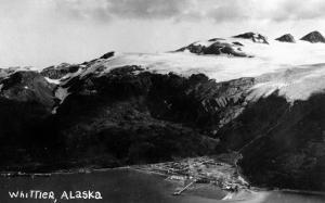 Whittier, Alaska - Aerial View of Town by Lantern Press