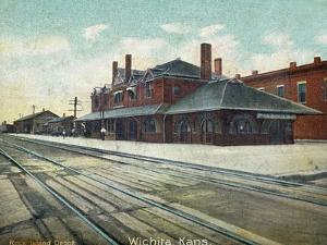 Wichita, Kansas - Exterior View of Rock Island Train Depot by Lantern Press